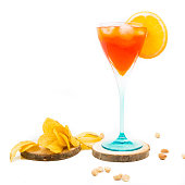 Spritz in a wine glass decorated