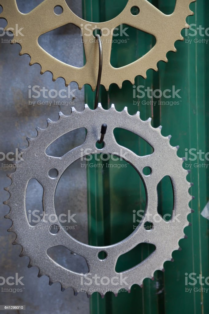 Sprocket for motorcycle stock photo