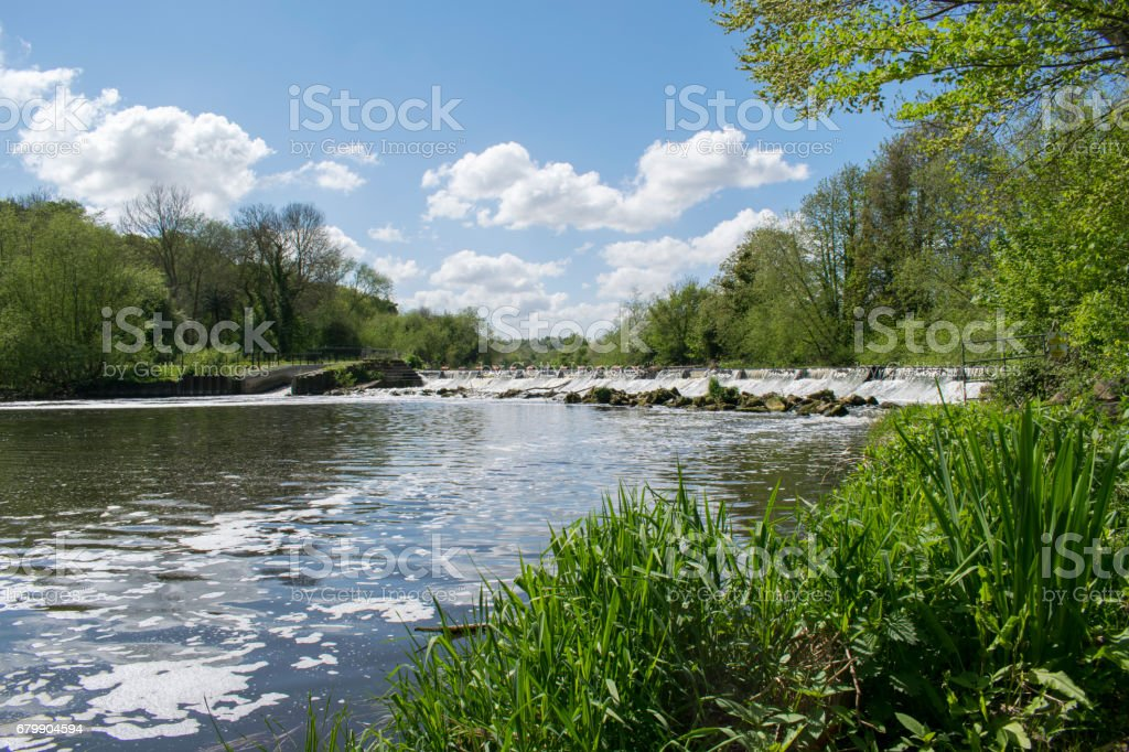 Sprotbrough Weir, Doncaster, South Yorkshire, England stock photo