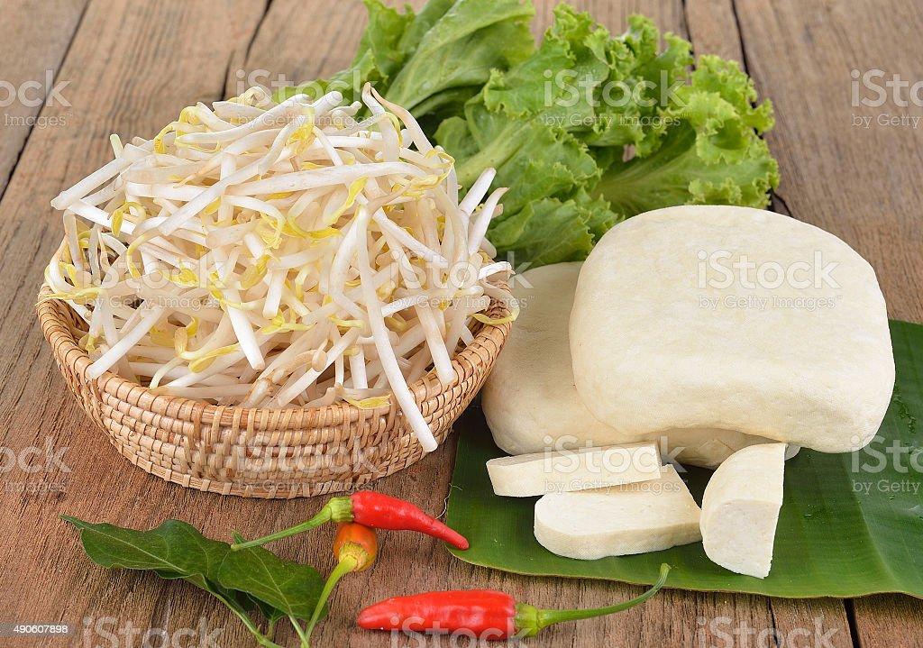 Kiełek i tofu Jedzenie wegetariańskie zbiór zdjęć royalty-free