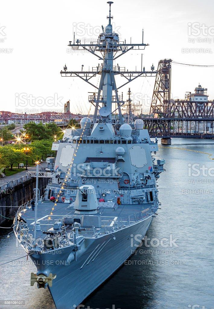 USS Spruance stock photo