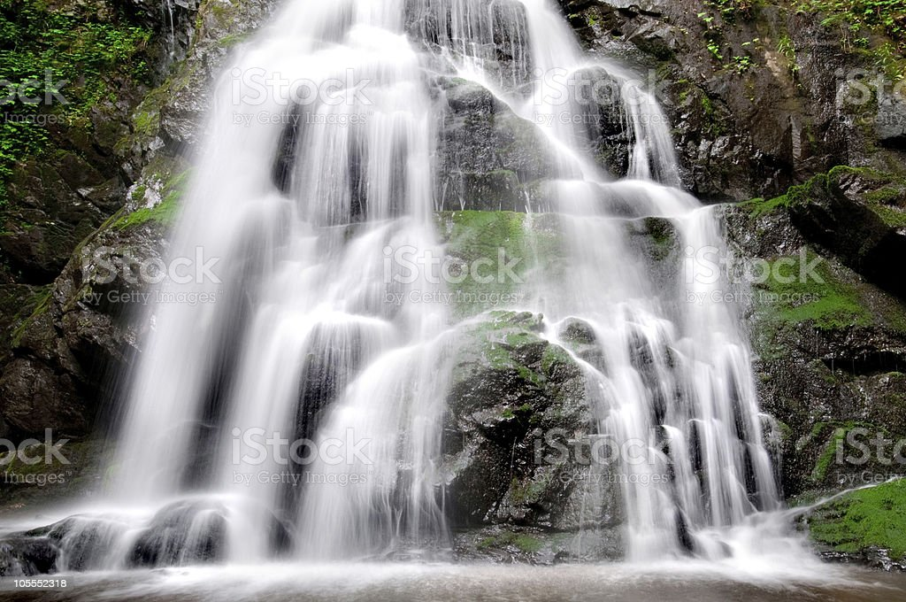 Spruce Flat Falls royalty-free stock photo