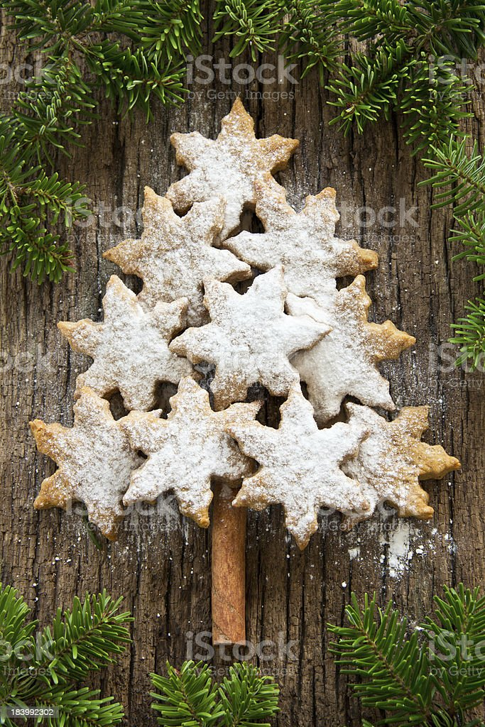 Spruce from a New Year's cookies. royalty-free stock photo