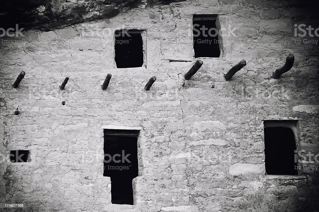 Spruce Tree House Ruins - Mesa Verde National Park, Colorado royalty-free stock photo