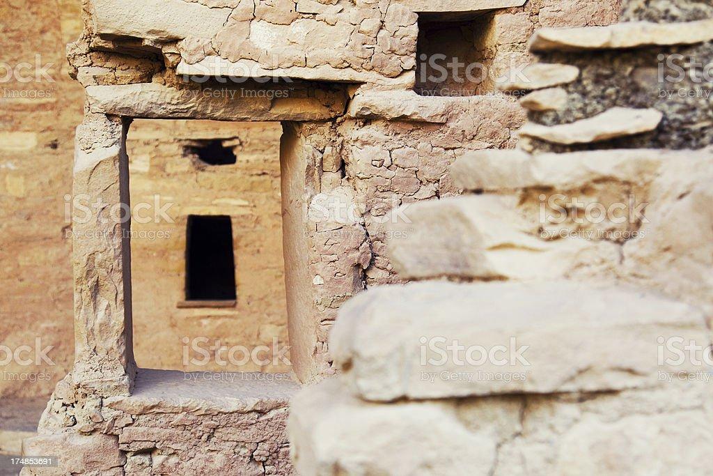 Spruce Tree House Ruins - Mesa Verde National Park, Colorado stock photo