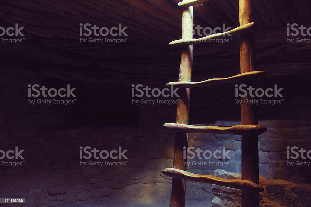 Spruce Tree House Ruins - Mesa Verde National Park, Colorado stock photo