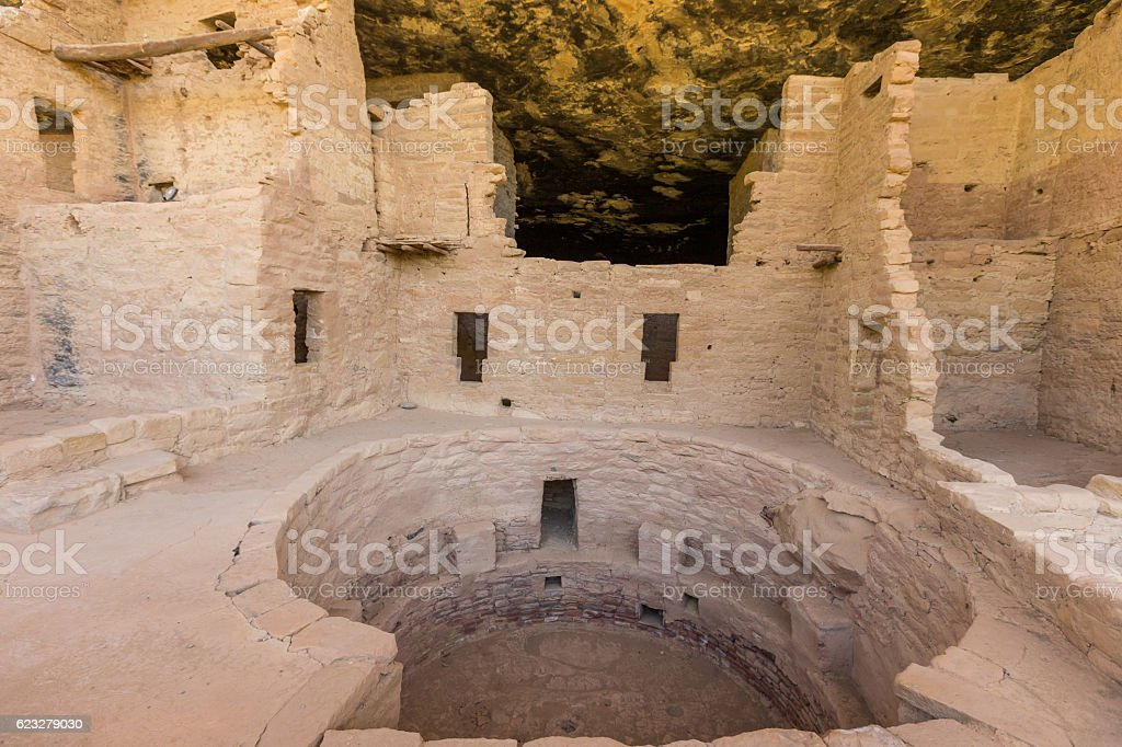 Spruce Tree House Ruins stock photo