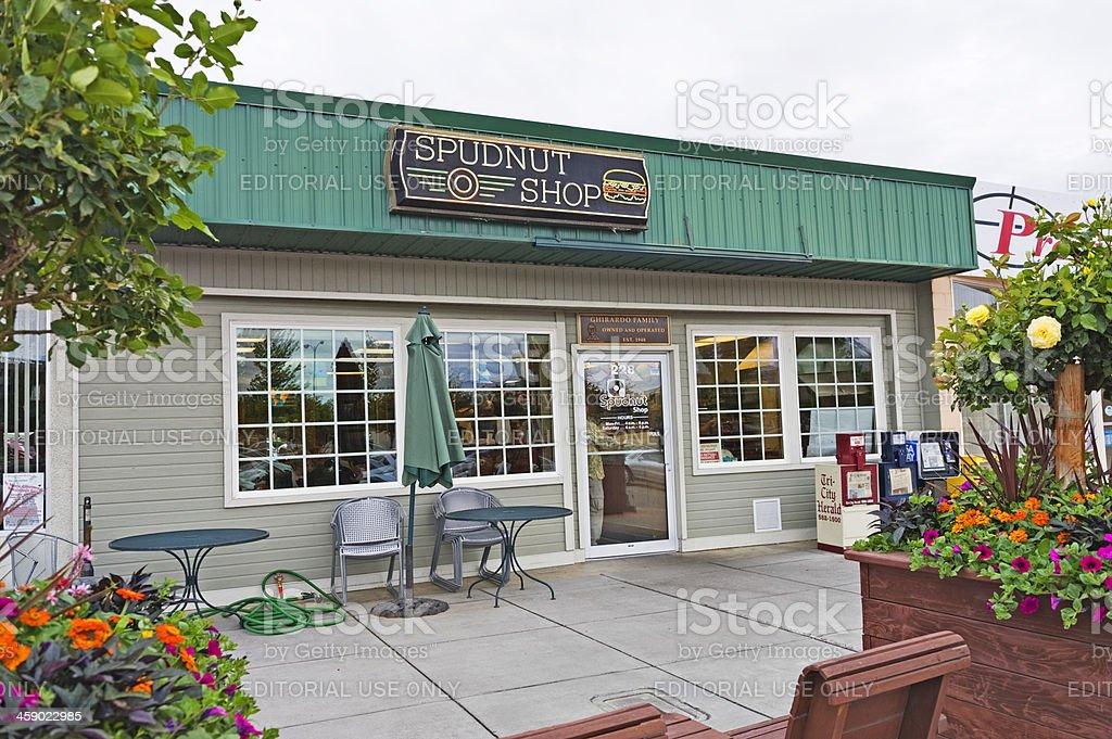 Spudnut Shop royalty-free stock photo