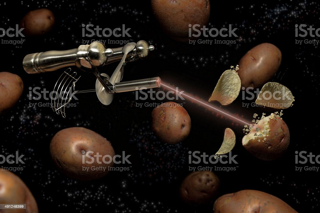 Spuds in Space stock photo