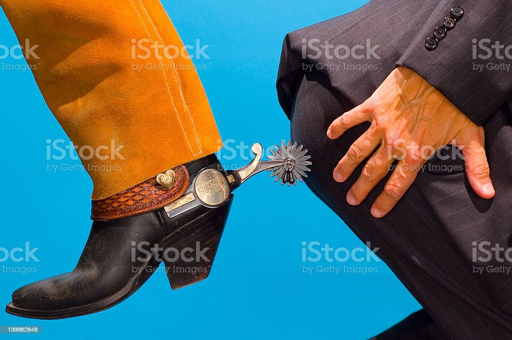 Spurred-on stock photo