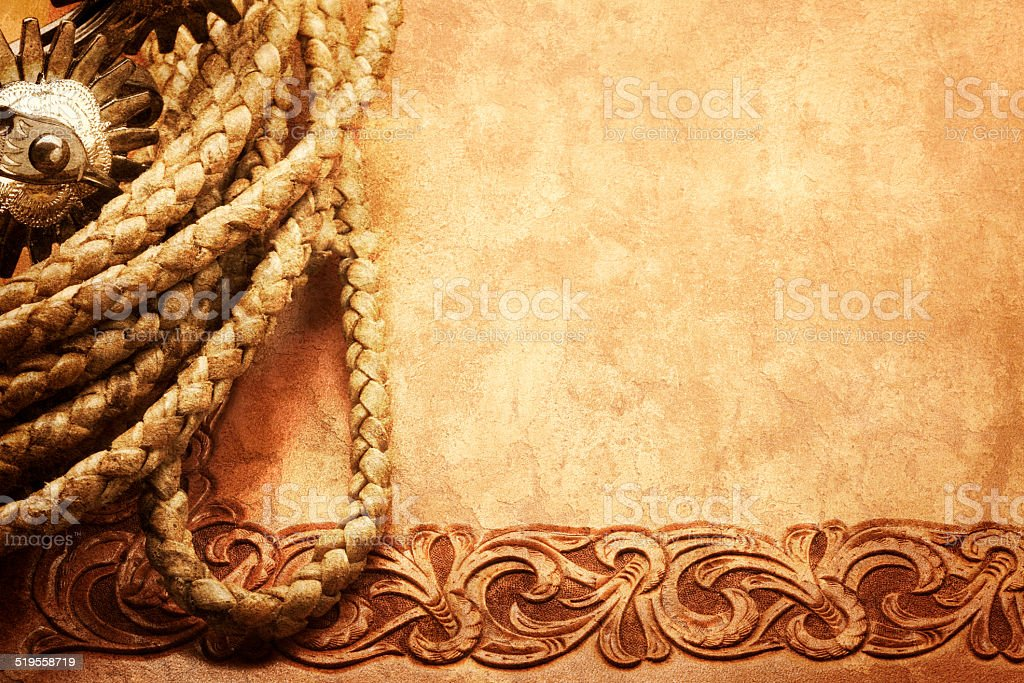 Spurs and Rope stock photo