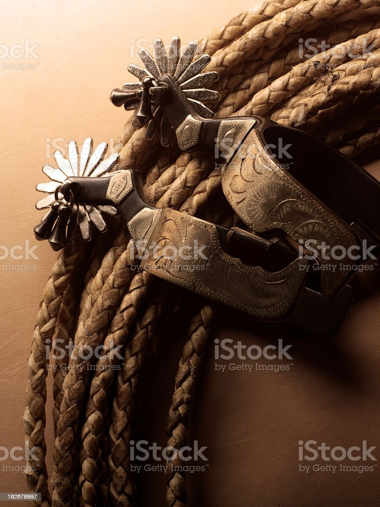 Spurs & Lariat From American West royalty-free stock photo