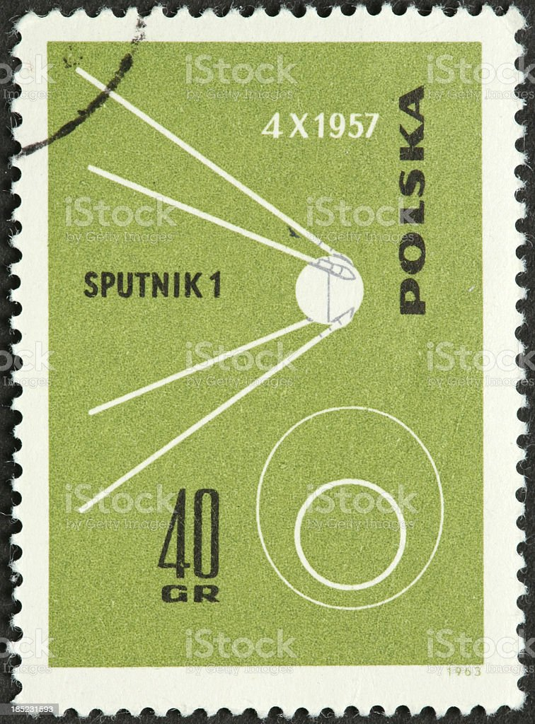 Sputnik I, first satellite stock photo