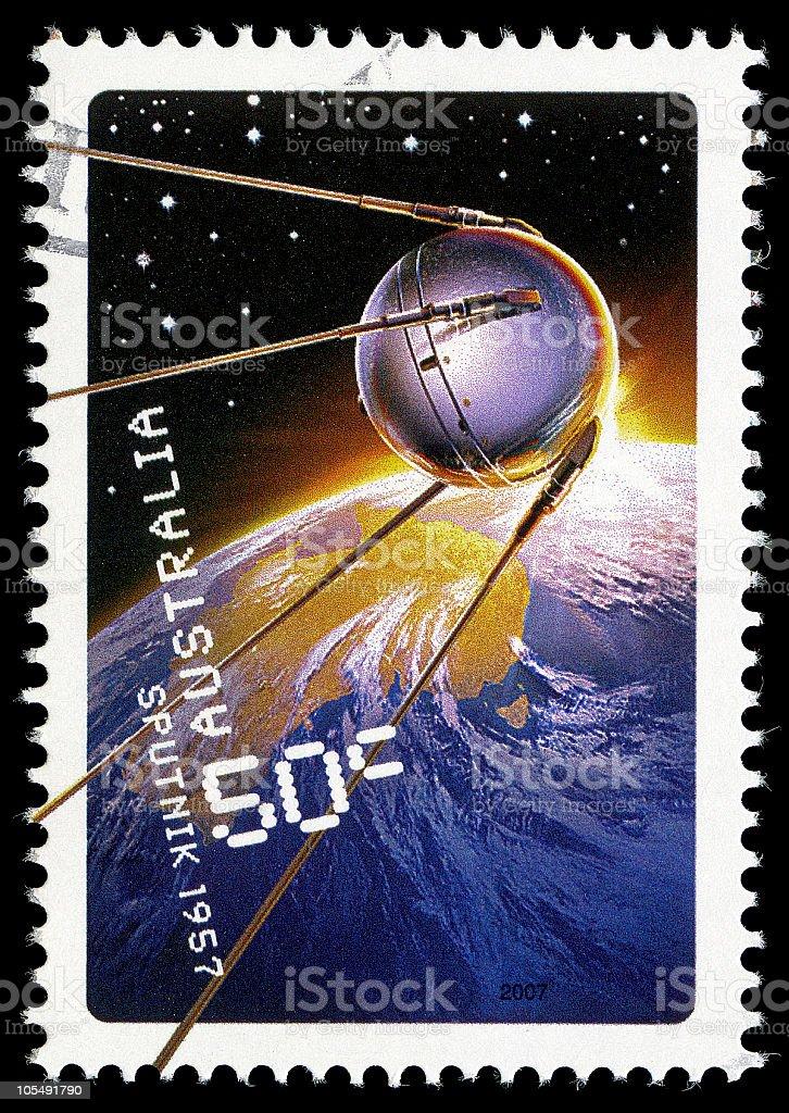 Sputnik Stamp royalty-free stock photo