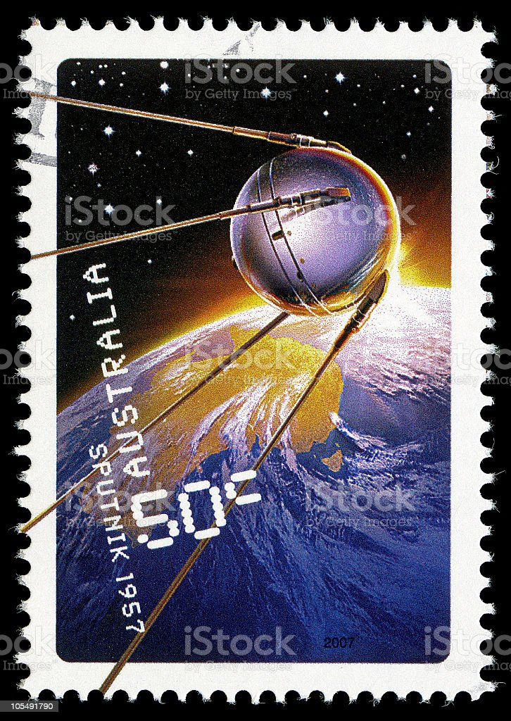 Sputnik Stamp stock photo