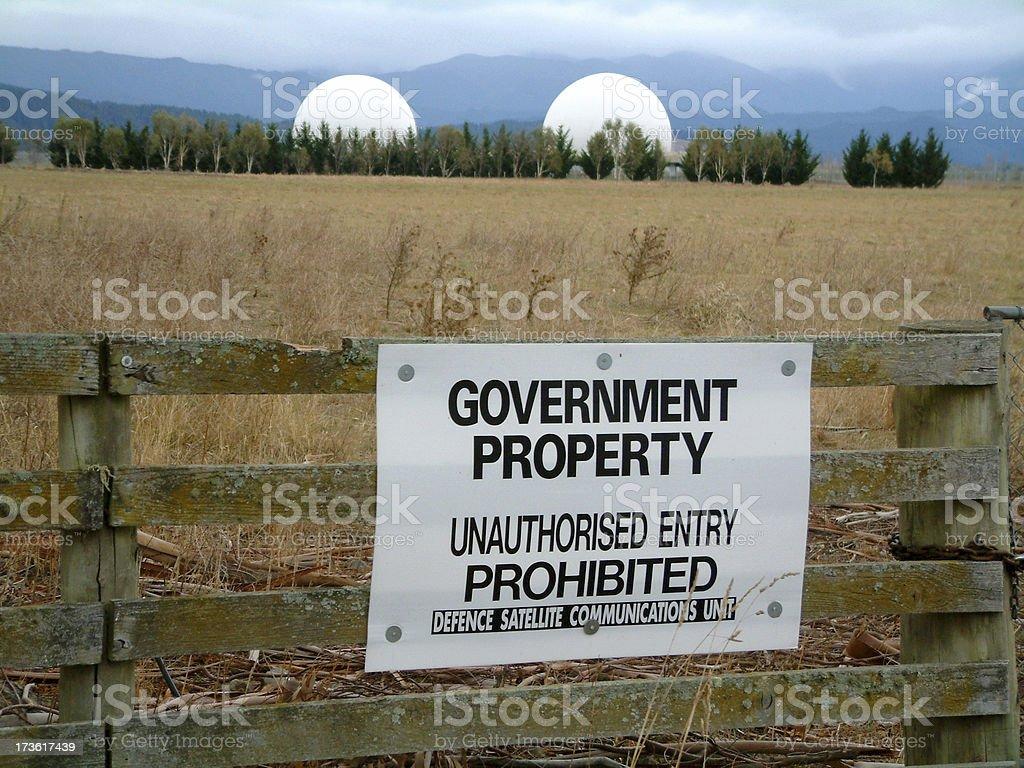 Spy Base at Waihopai stock photo