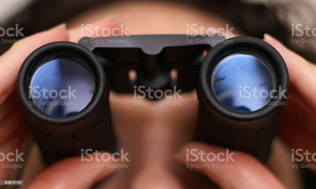 I Spy Binoculars royalty-free stock photo
