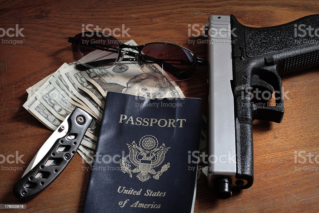 Spy essentials stock photo