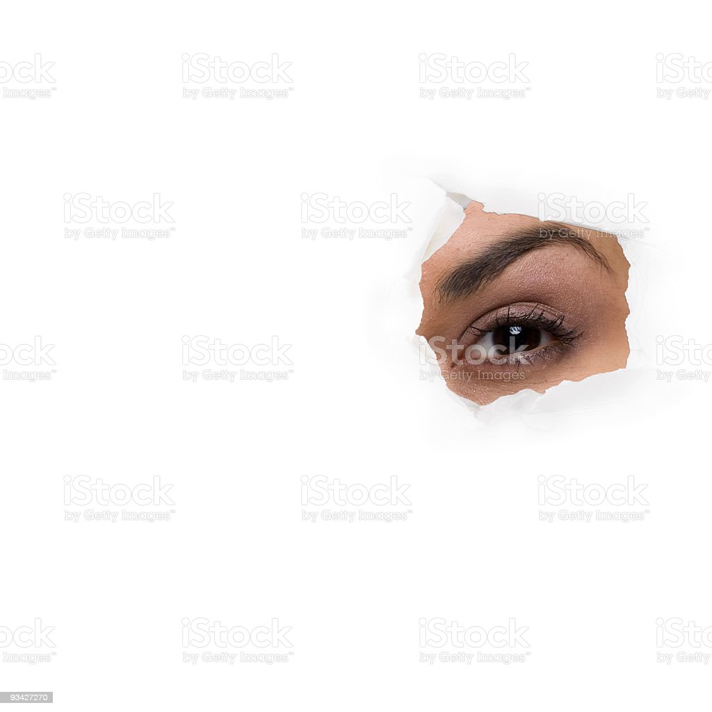 spy eye royalty-free stock photo