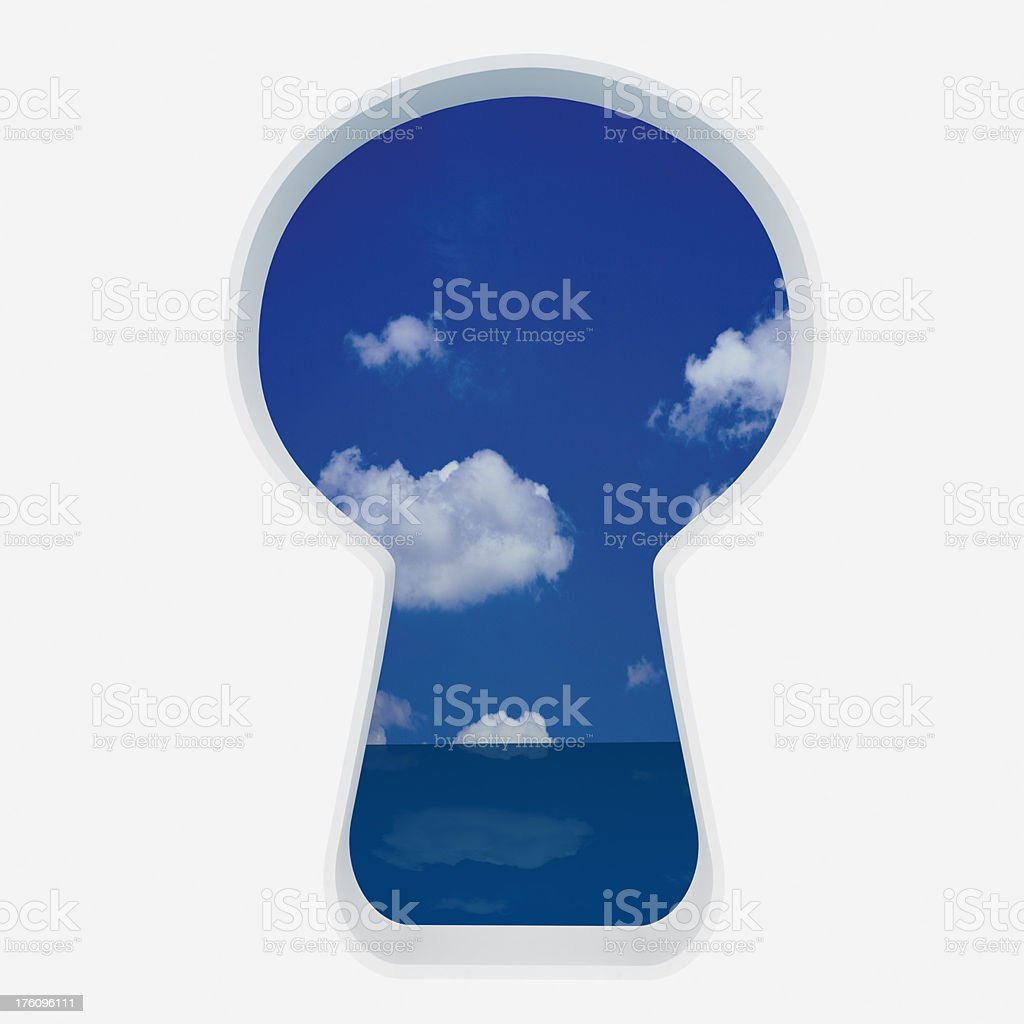 Spy Keyhole royalty-free stock photo