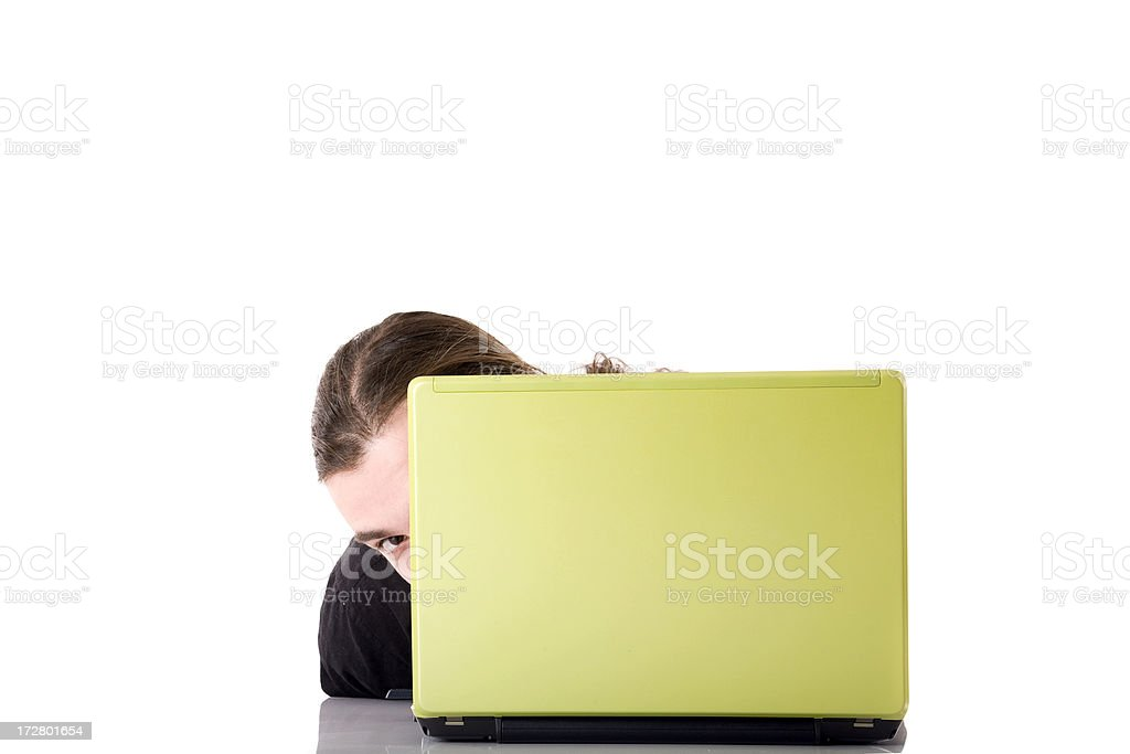 Spy on computer royalty-free stock photo