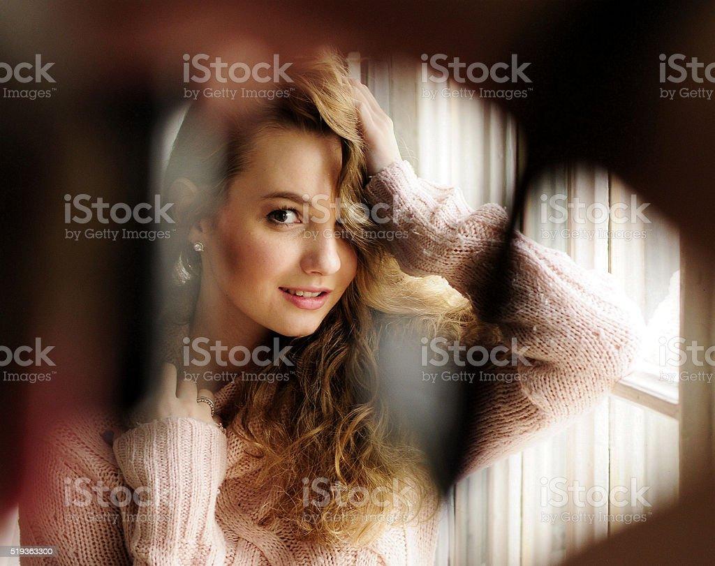 spy unmasked, peep stock photo