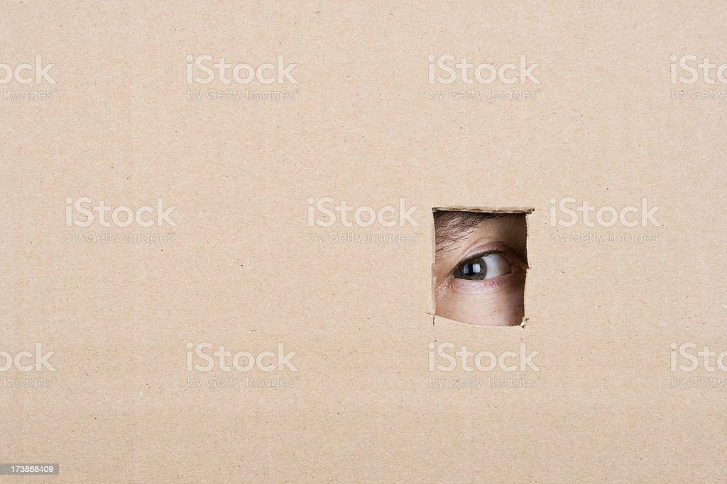 Spyhole stock photo