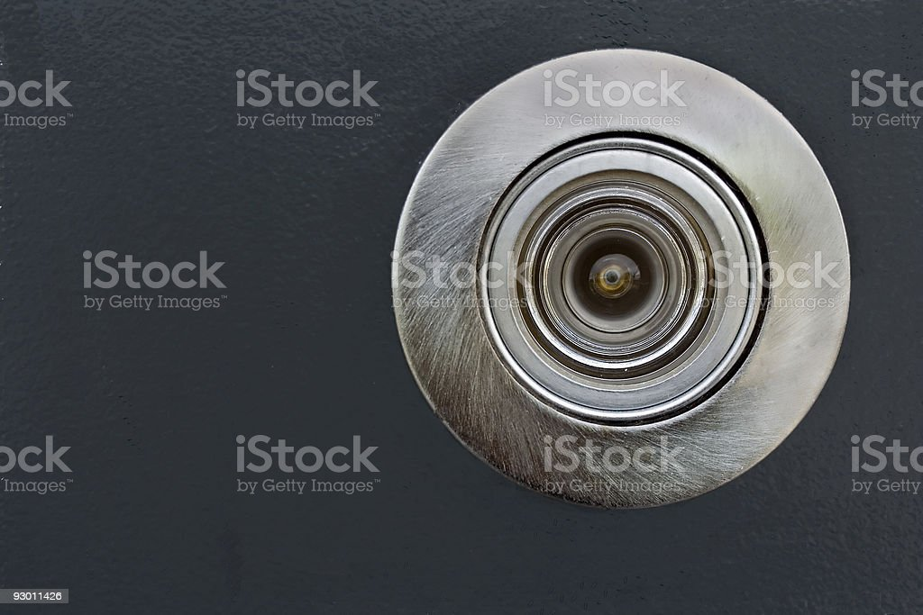 Spyhole royalty-free stock photo