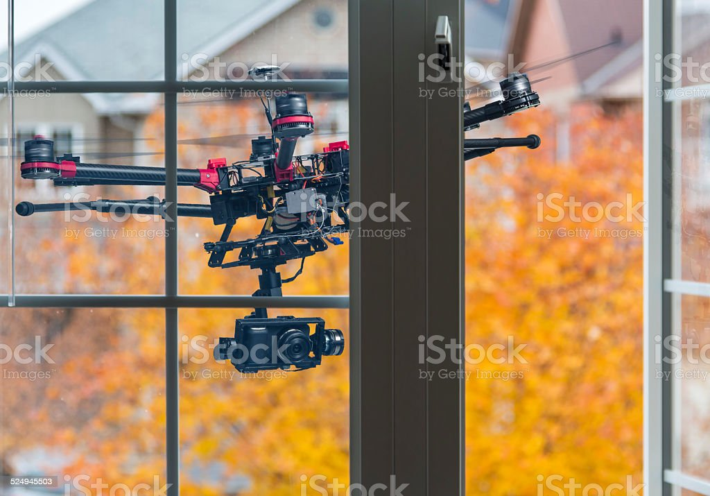 Spying drone stock photo