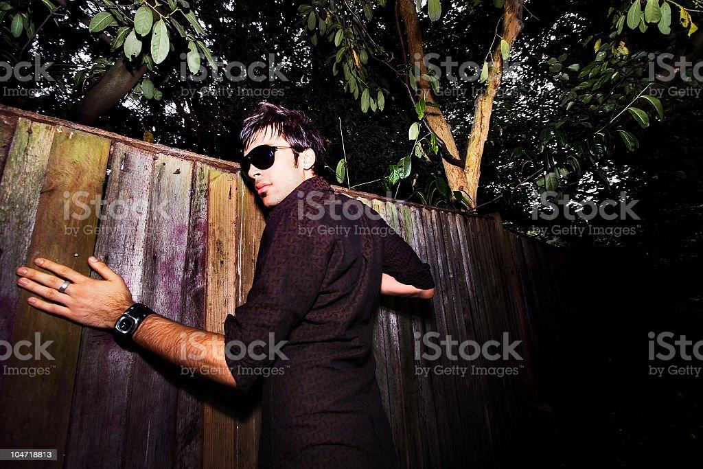 Spying Neighbor stock photo