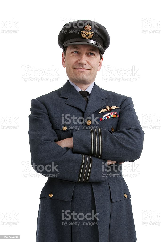 WWII Squadron Leader stock photo