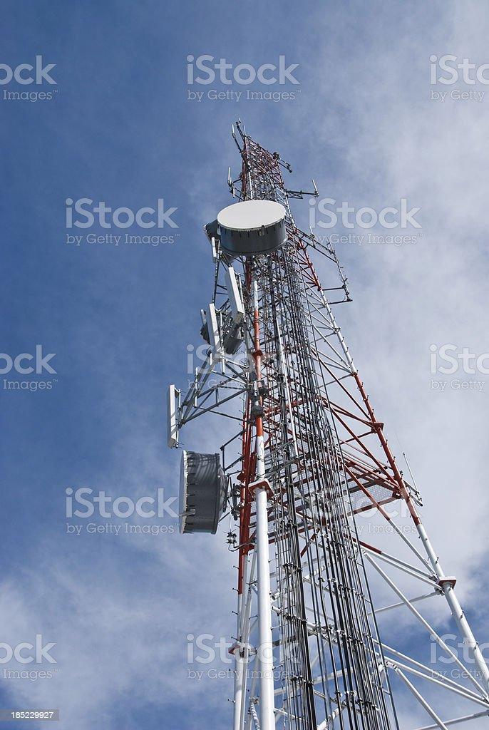 Squak Mountain Microwave Relay Tower royalty-free stock photo