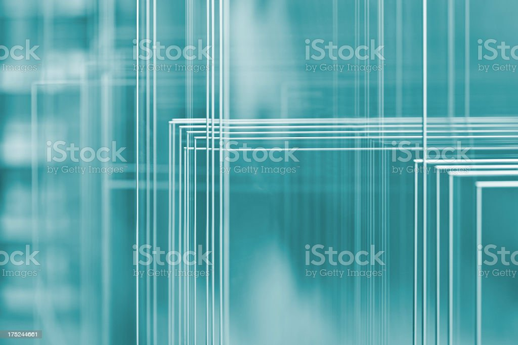 A square abstract blue and white image stock photo