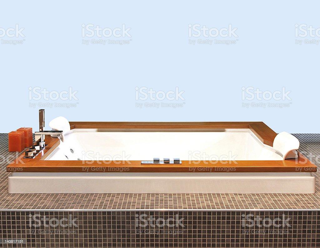 Square bathtub royalty-free stock photo