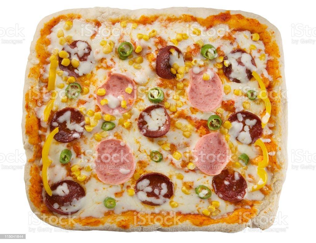 square big pizza stock photo