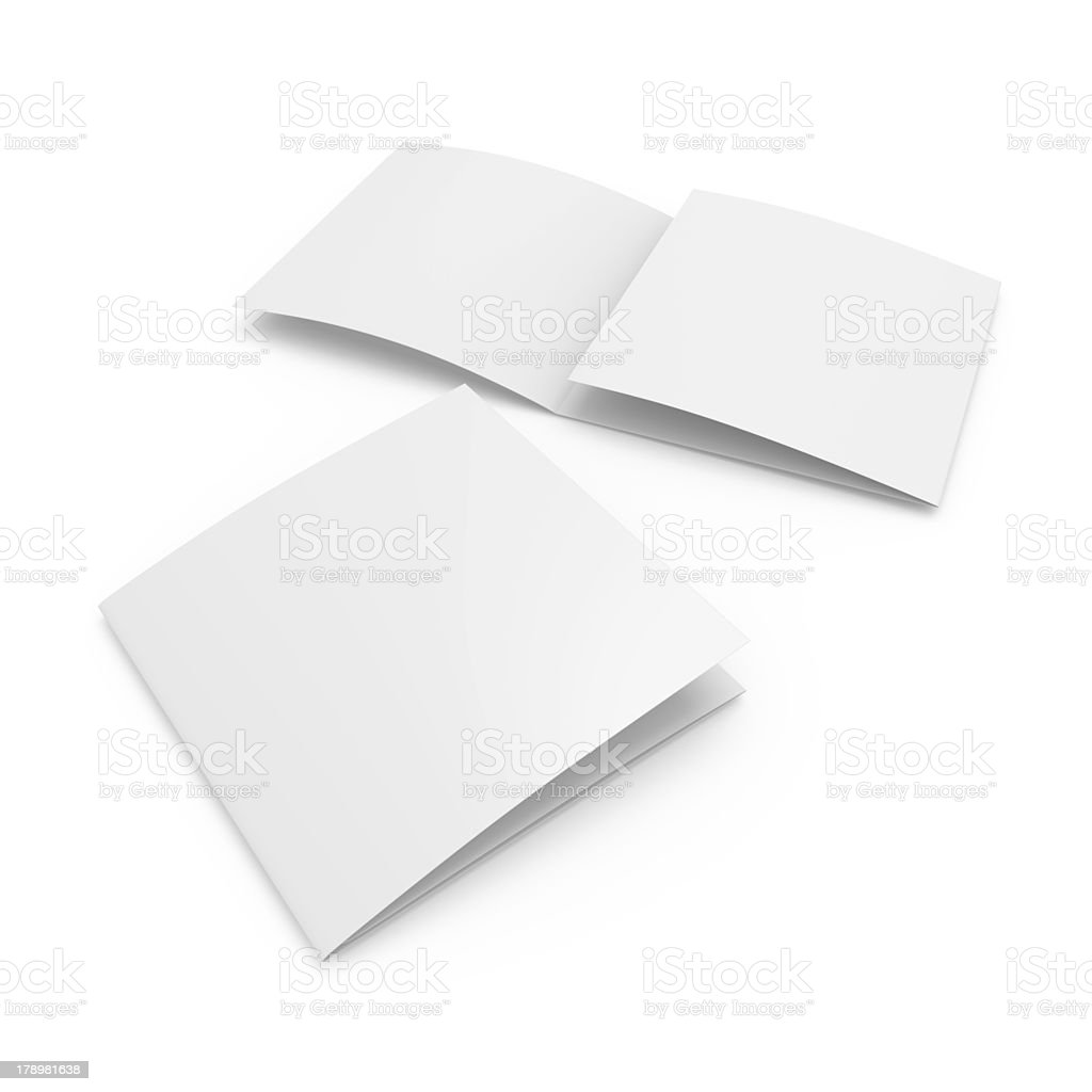 Square blank leaflet stock photo