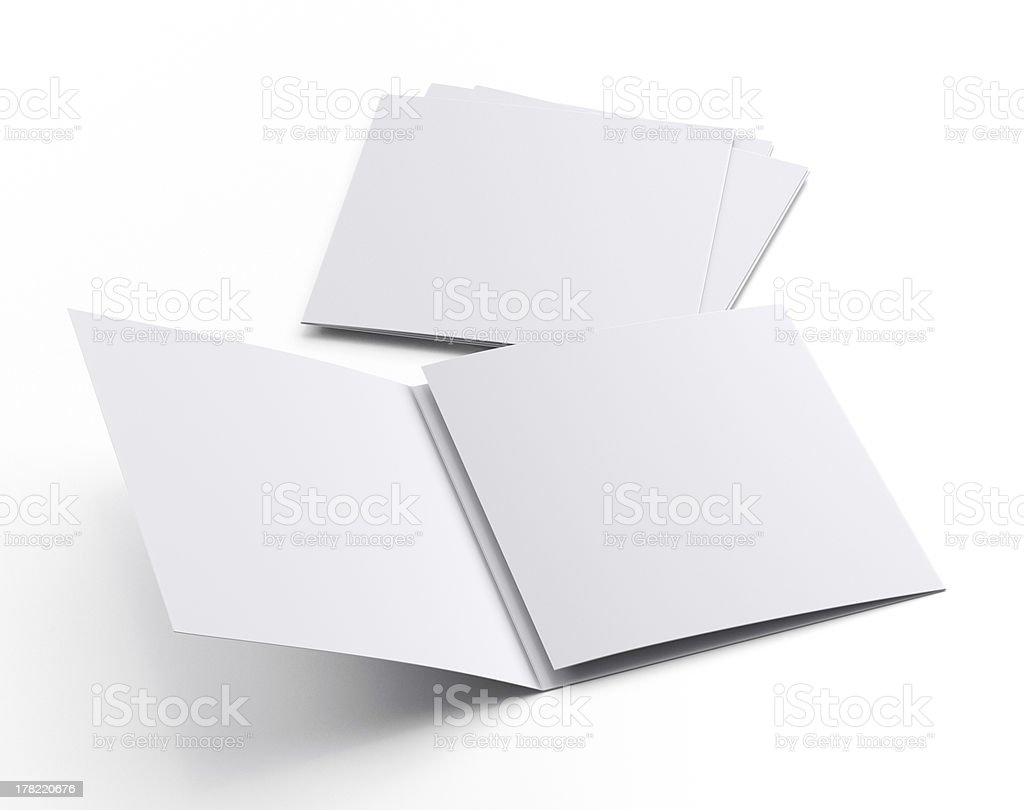 Square blank leaflets or fliers royalty-free stock photo
