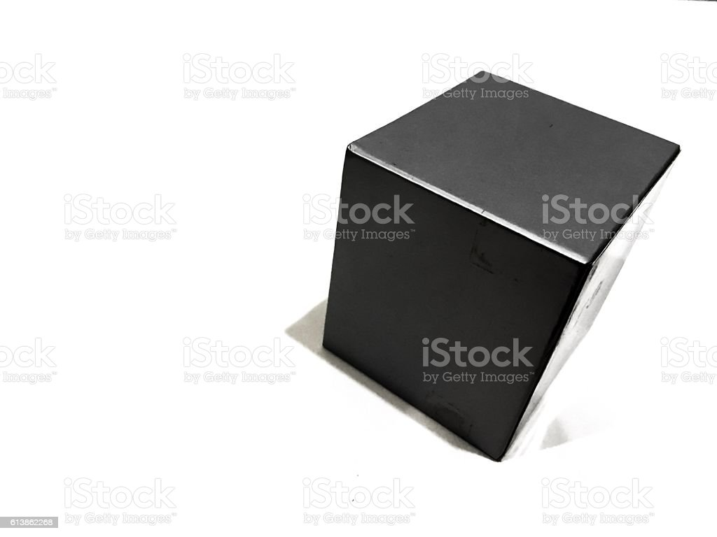 Square box stock photo