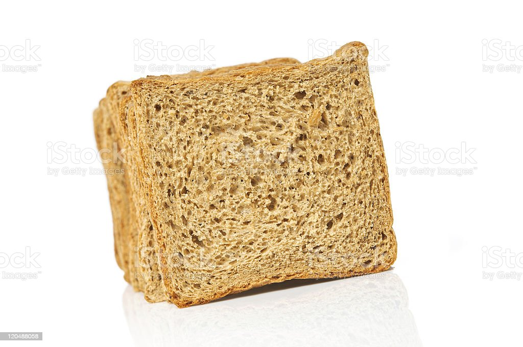 square bread sliced isolated on white stock photo