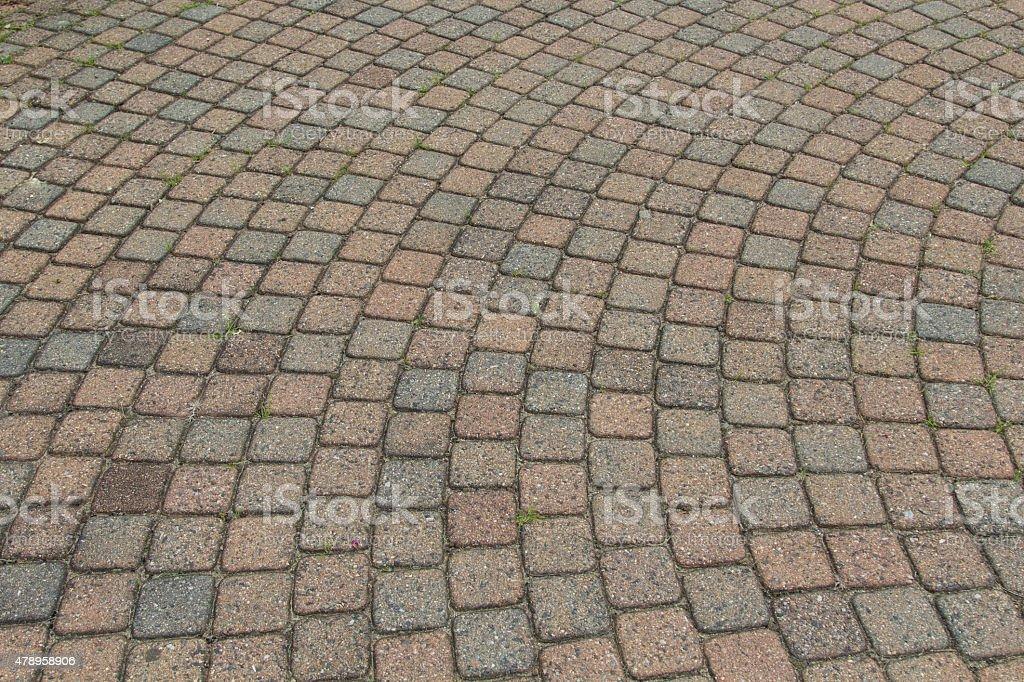 Square brick walkway - Background stock photo