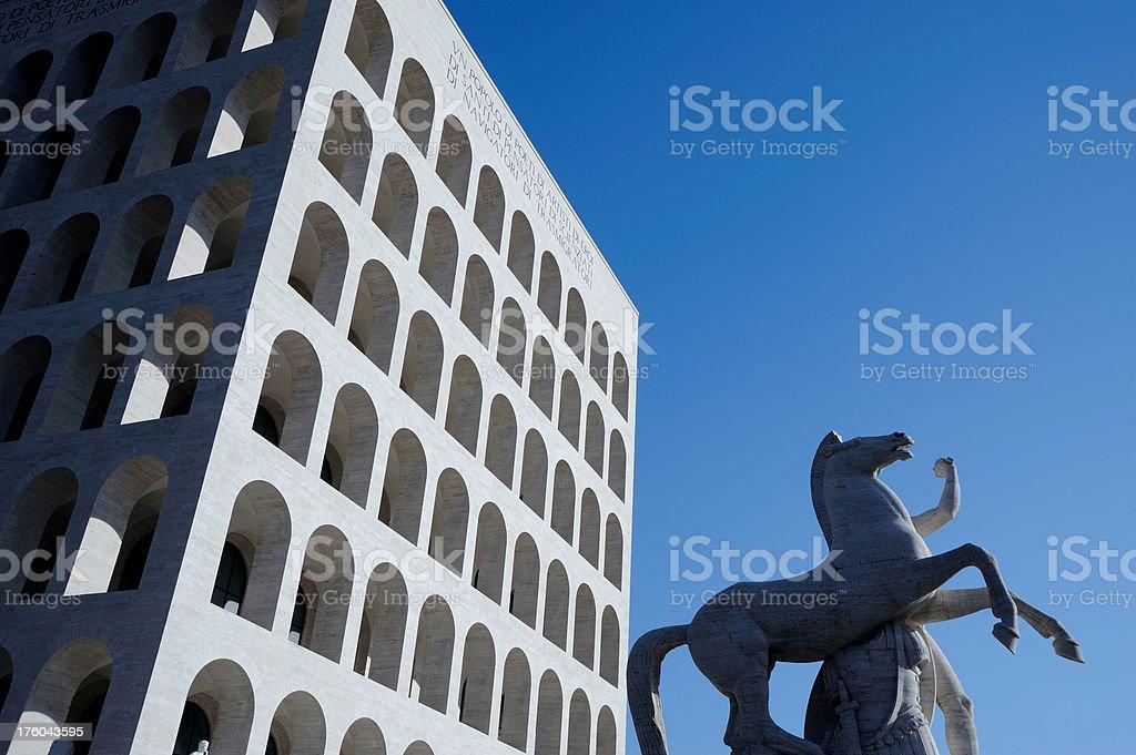 Square Coliseum wide stock photo