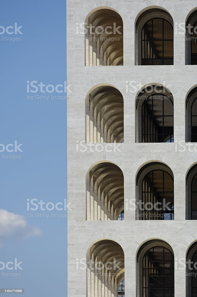 Square Colosseum in Rome EUR royalty-free stock photo