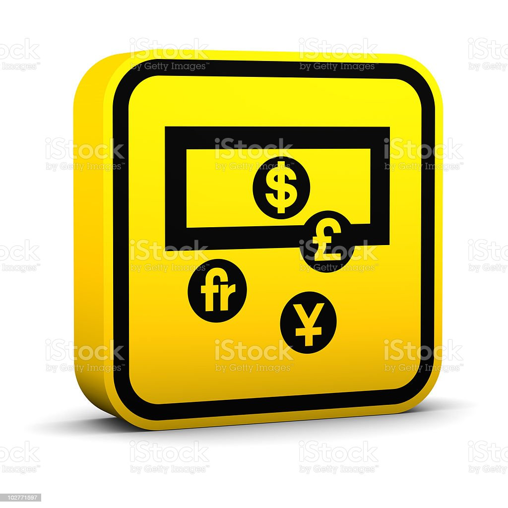Square Currency Exchange Sign royalty-free stock photo