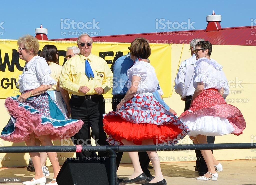 square dancers stock photo