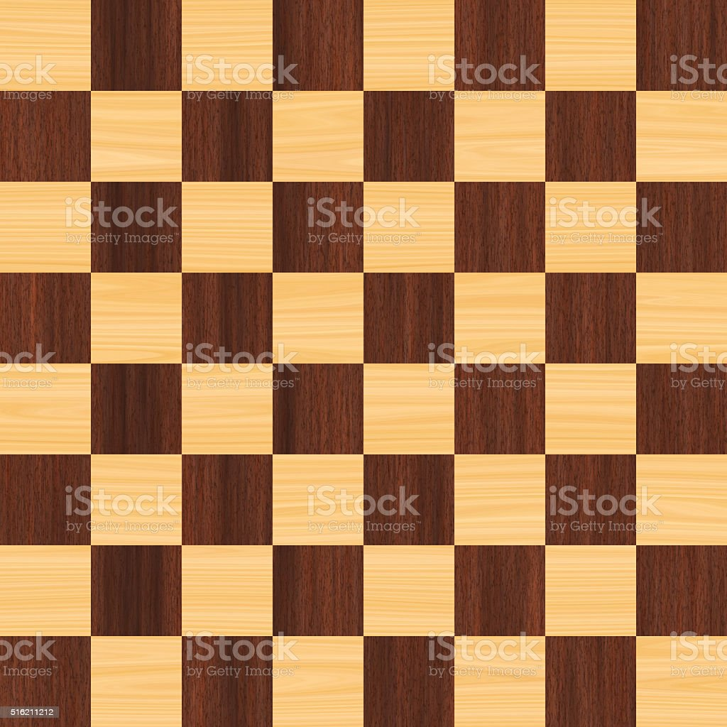64 square digtally generated wood checkerboard stock photo