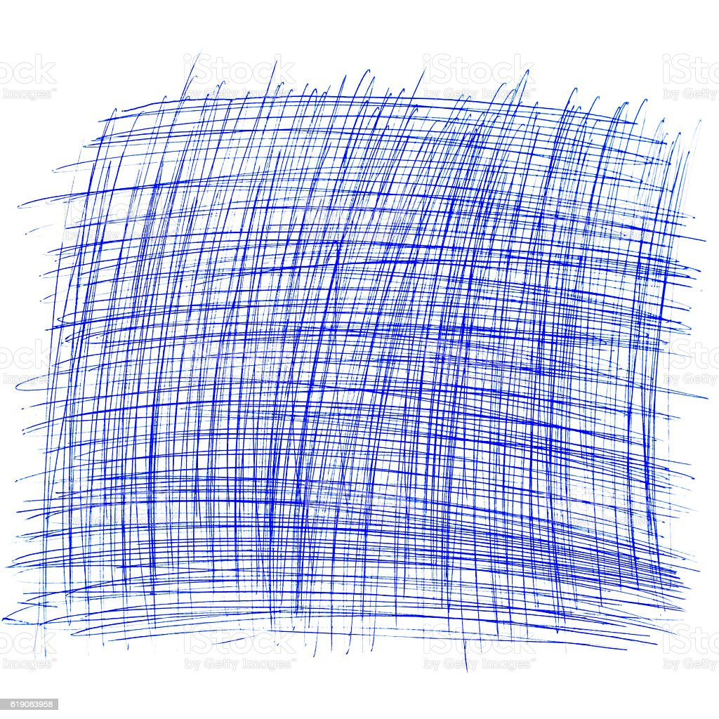 square drawn with a ballpoint pen on a white sheet stock photo