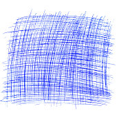 square drawn with a ballpoint pen on a white sheet