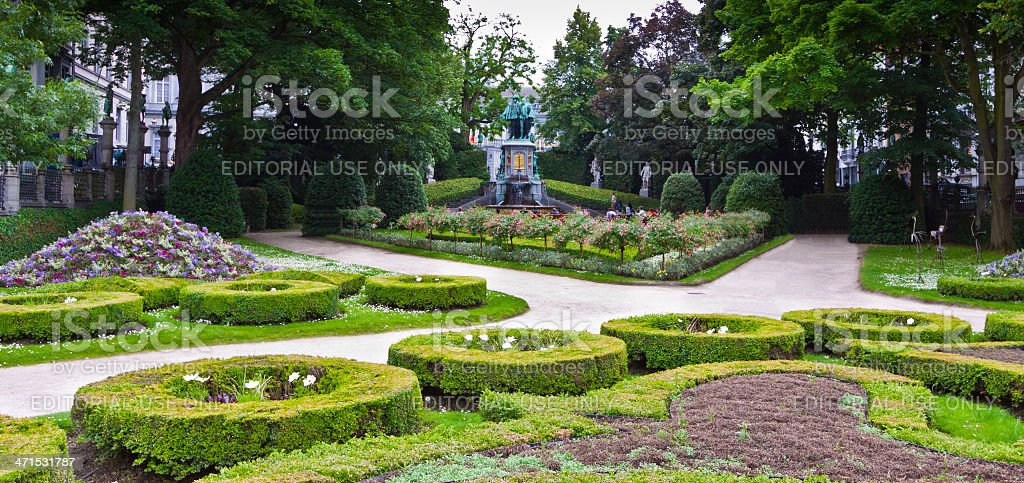 Square du Petit Sablon, Brussels. royalty-free stock photo