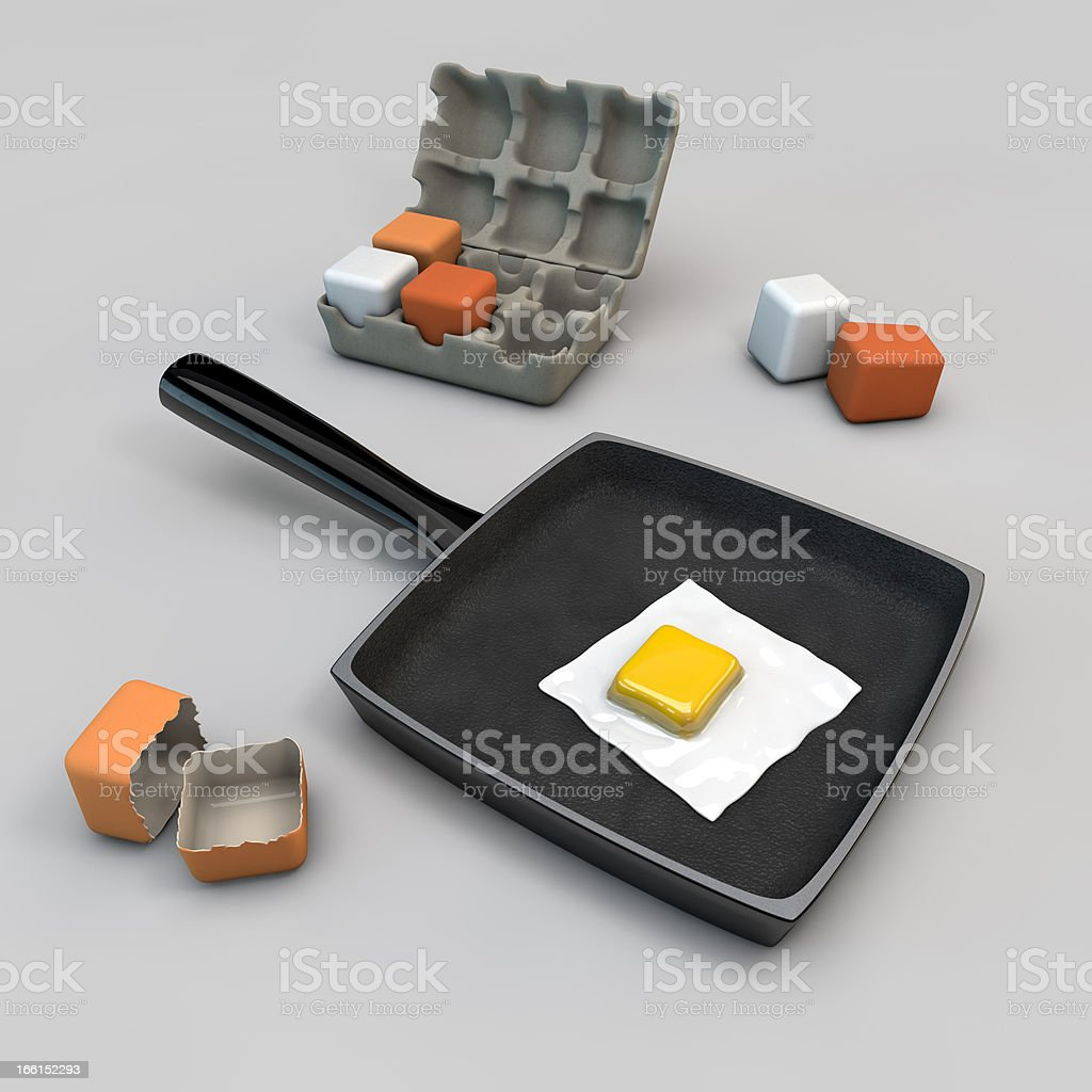 square eggs royalty-free stock photo