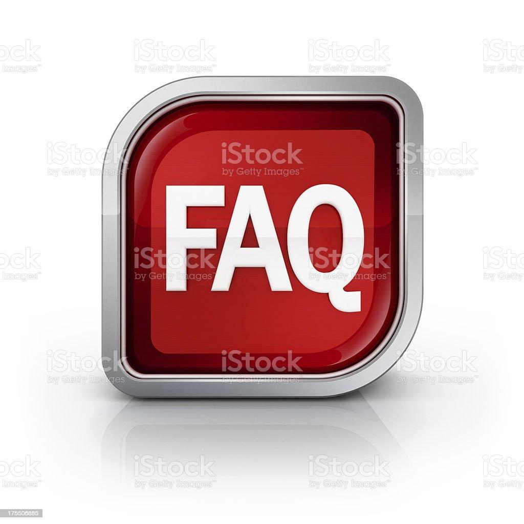 square faq glossy icon royalty-free stock photo